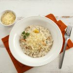 Receita de Risoto de queijo gorgonzola com pera e nozes